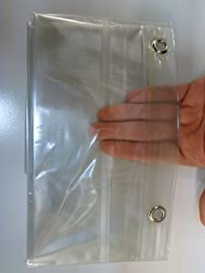 100 % Vinyl DPC Clear Magnetic Shower Curtain Liner with Grommets