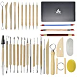 Augernis Pottery Sculpting Tools 32PCS Ceramic Clay Carving Tools Set for Beginners Expert Art Crafts Kid's After School Pottery Classes Club Children Students (Tamaño: 32PCS)