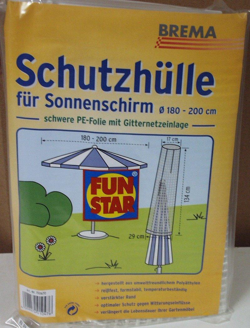 """Fun Star Sonnenschirmhülle """"Luxus"""", bis 200cm PE-Folie mit Gitternetz-Einlage, transparent online bestellen"""