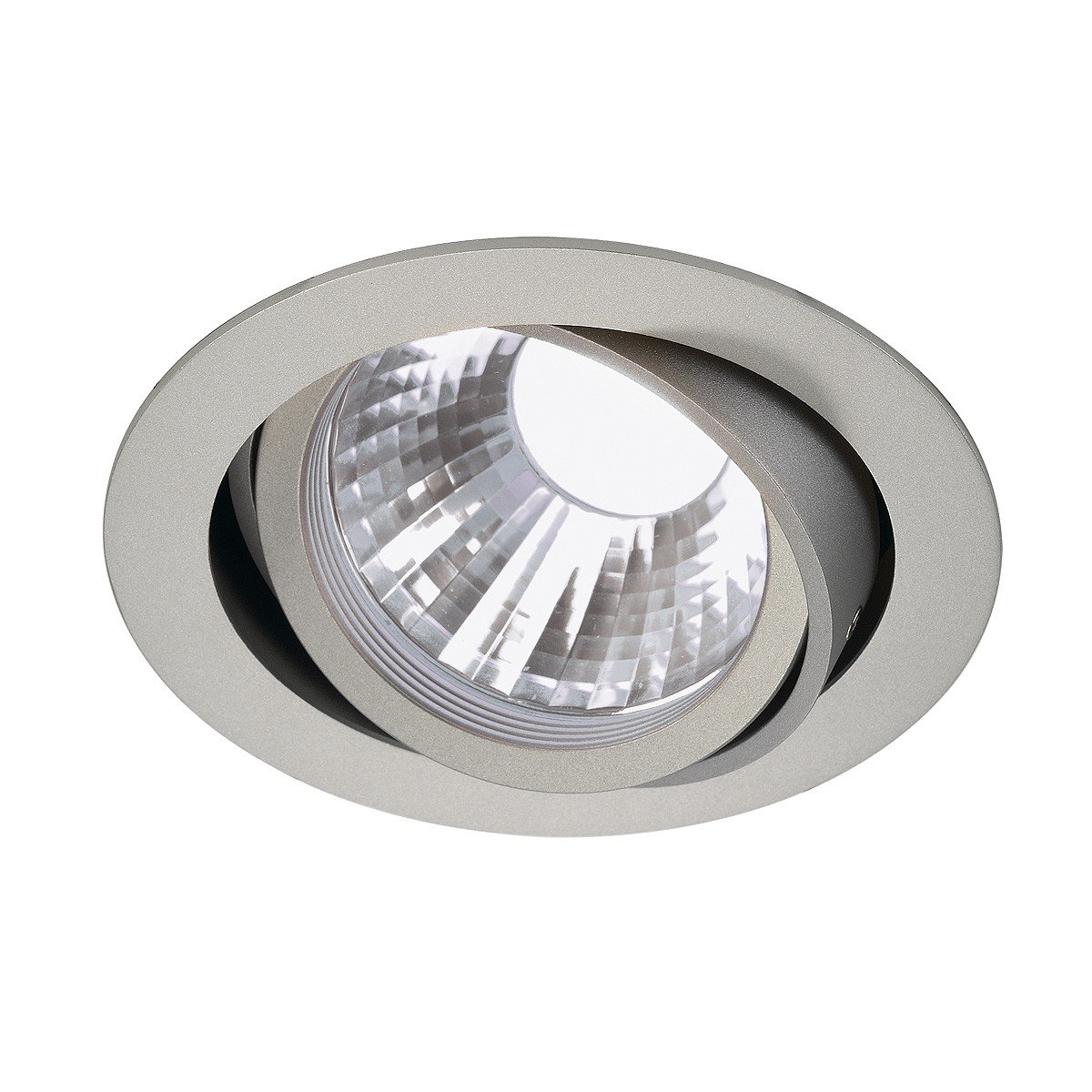SLV New Tria LED Disk Downlight, Rund, 4000 K, 35 Grad, silbergrau 113564