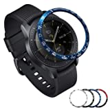 [Aluminum] Galaxy Watch 46mm Bezel Styling, Galaxy Gear S3 Frontier & Classic Bezel Ring Adhesive Cover Anti Scratch Aluminium Protection Tachymeter, Design for The Galaxy Watch Accessories -Blue (Color: Aluminum 46mm Be)