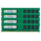 DUOMEIQI 8GB Kit (4 X 2GB) DDR2 800MHz UDIMM 2RX8 PC2-6300 PC2-6400 240pin CL6 1.8v Unbuffered Non-ECC Dual Channel Desktop RAM Memory Module for Intel AMD System (Color: 4X2GB Udimm Large Board, Tamaño: UDIMM Large Board)