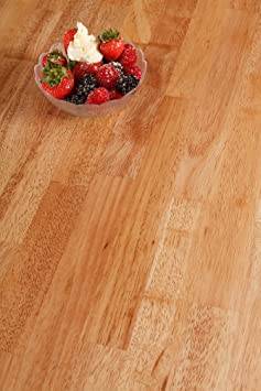 Solid Rubber Wood Timber Block Wooden Worktops (3M x 960mm x 40mm)