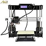 Anet A8 3D Printer, Self-Assembly 0.4mm Nozzle Aluminium Alloy Hotbed 2004 LCD Desktop 3D Printer Reprap i3 with Tools, 8G SD Card, 10m Filaments (Color: A8, Tamaño: 20.1 * 12.2 * 8.3 inch)