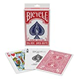Bicycle Big Box Playing Cards- Red Big Box Playing Cards (Color: Red)