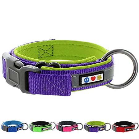 84c4cedb86 This stylish collar is made from durable nylon and features a built-in  reflective line for increased visibility. D ring is strategically placed to  provide ...