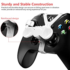 Xbox One Mini Steering Wheel, Xbox One Controller Add-on Replacement Accessories for All Xbox Racing Game (White) (Color: White)