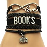 DOLON Infinity Love Books Bracelet Jewelry-Graduation,Writers,Author Book Lover Gift