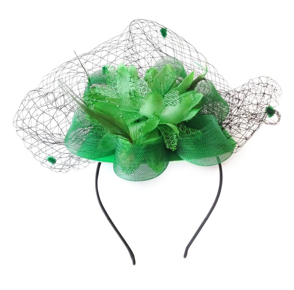 Fascinator Hair Clip Pillbox Hat Bowler Feather Flower Veil Wedding Party Hat 2