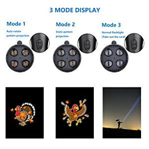 Coidak LED Christmas Lights Projector & Flashlight 2-in-1, Handheld Portable Continuous Animation Projection Light with 9 Replaceable Slides for Christmas Decorations, Thanksgiving, Birthday Party (Color: Anime Flashlight)