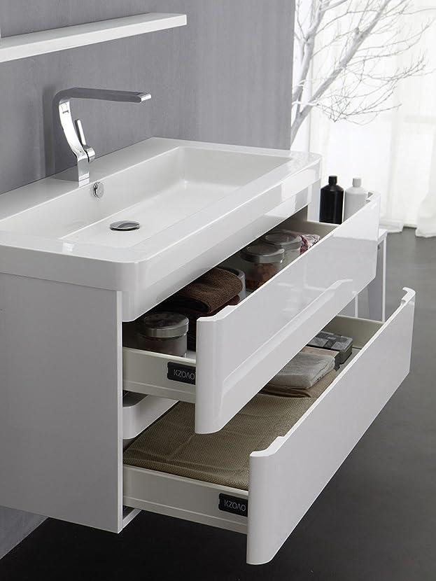 Berlino Per Lavabo Set 85cm Bianco