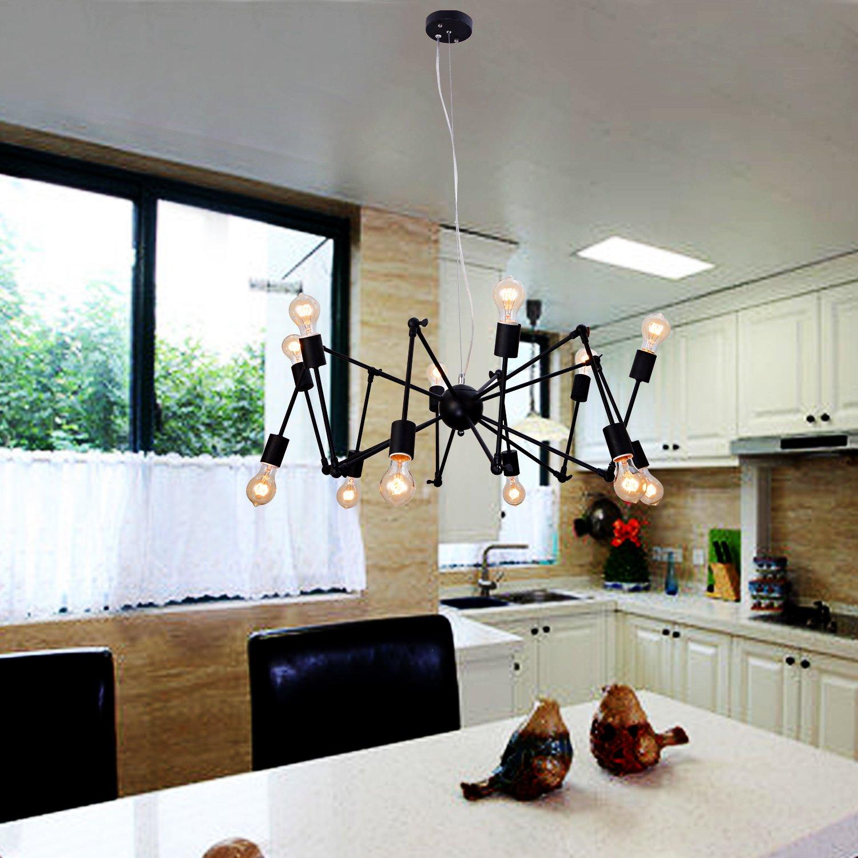 OOFAY LIGHT® Einfache und elegante Weinlese-Leuchter 12 europäischen Kronleuchter Kronleuchter Schlafzimmer Wohnzimmer Restaurant Kronleuchter