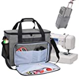 Teamoy Sewing Machine Bag, Travel Tote Bag for Most Standard Sewing Machines and Accessories, Gray (Color: Gray, Tamaño: Medium)