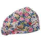 GUOER Scrub Hat Bouffant Scrub Cap One Size Multi Color (Purple02) (Color: Purple02, Tamaño: One Size)