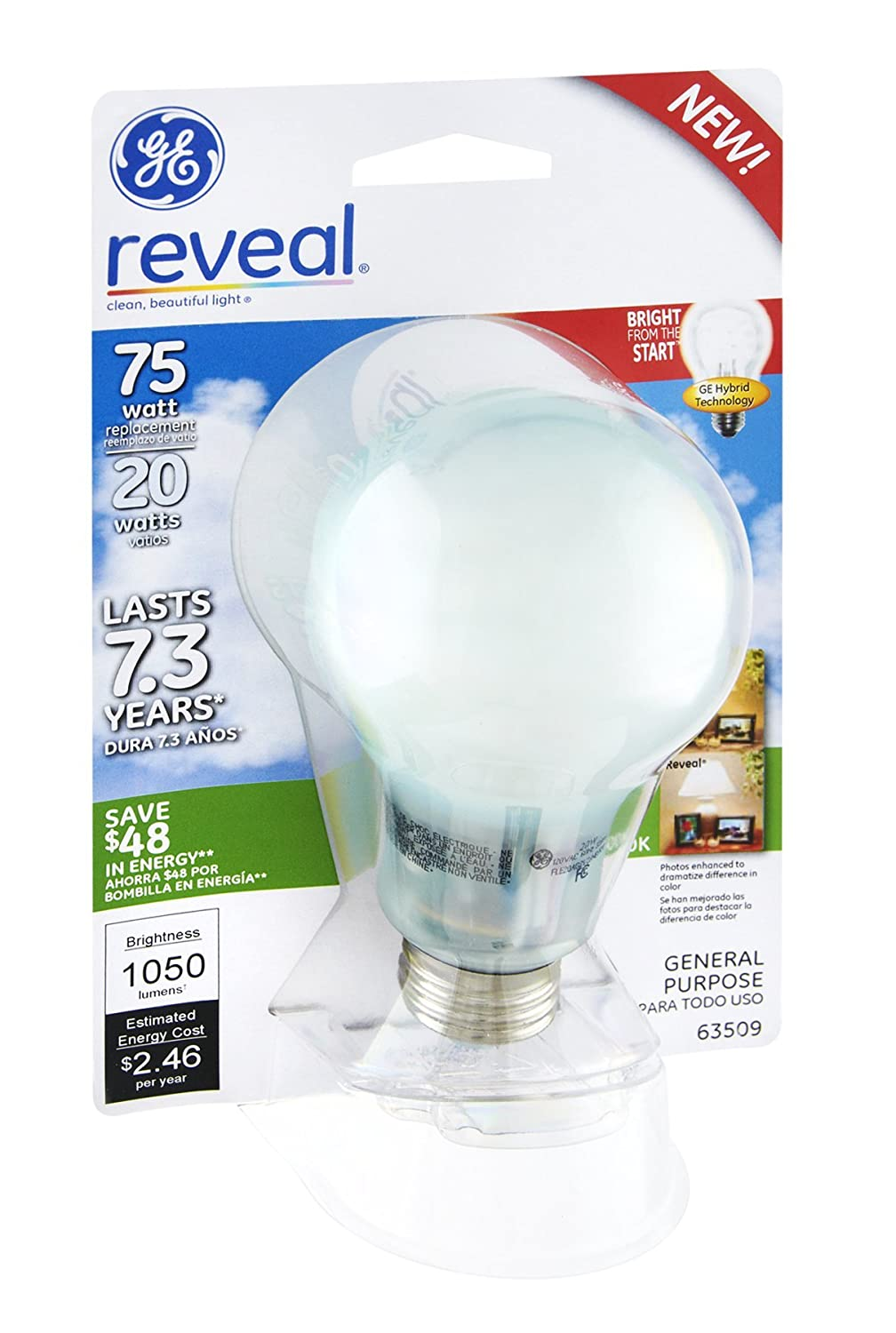 GE Reveal 20 Watts General Purpose Light Bulb EA (Pack of 12) 2017 ten light color hobo japanese light amount notes the books envelope contain within core general purpose student notebook