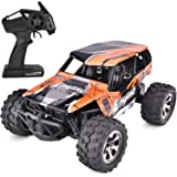 SIMREX A231 RC Cars High Speed 20MPH Scale RTR Remote Control Brushed Monster Truck Off Road Car Big Foot RC 2WD Electric Power Buggy W/2.4G Challenger Orange
