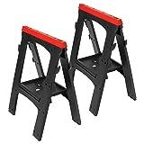 Performance Tool W54009 Heavy Duty Plastic Sawhorse Set (450 lb capacity, 900 lbs Total) (Tamaño: Heavy Duty Plastic Sawhorse)
