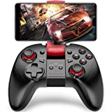 BEBONCOOL Android Game Controller with Clip for Android Phone/Tablet/Gear VR (Color: B07 Red)