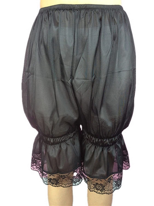 Frauen Handgefertigt Halb Slips UL2BK Black Half Slips Nylon Women Pettipants Lace online kaufen