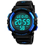 Kids Digital Watch, Boys Sports Waterproof Led Watches With Alarm Wrist Watches For Boy Girls Children (Color: Black)