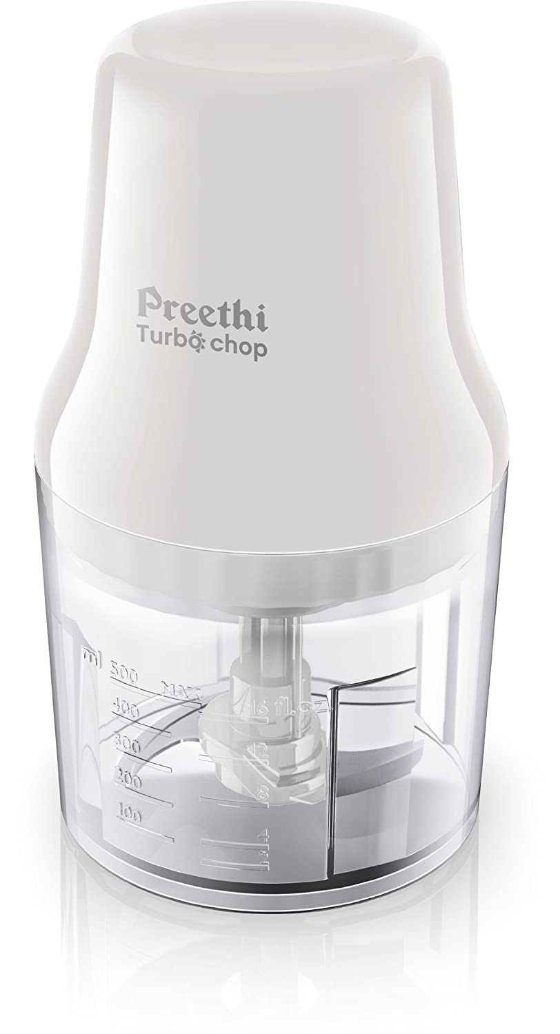 Preethi Turbo Chop CH 601 0.7 Litre 450 Watt Chopper  White  available at Amazon for Rs.1750