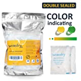 Wisedry 5 Gram [60 PACKS] Rechargeable Silica Gel Desiccant Packets Desiccant Bags Small with Color Indicating Beads Reusable Moisture Absorber for Gun Safes Closet Tools Storage FOOD GRADE
