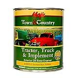 Majic Paints 8-0973-2 Town & Country Tractor, Truck & Implement Oil Base Enamel Paint, 1-Quart, School Bus Yellow (Color: School Bus Yellow, Tamaño: Quart)