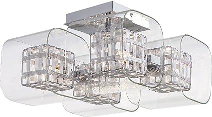 Kovacs P802-077 4 Light Semi-Flush Ceiling Fixture from the