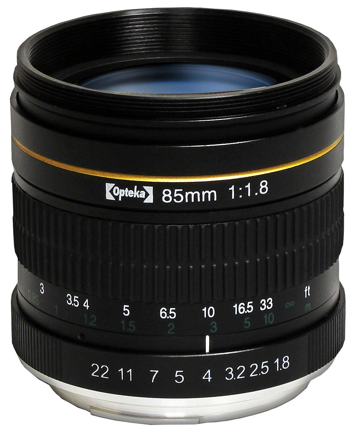 Opteka 85mm f/1.8 Manual Focus Aspherical Medium Telephoto Lens