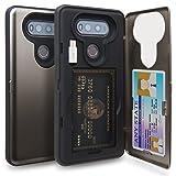 TORU CX Pro LG V20 Wallet Case with Hidden ID Slot Credit Card Holder Hard Cover, Mirror & USB Adapter for LG V20 - Gunmetal (Color: Gunmetal)