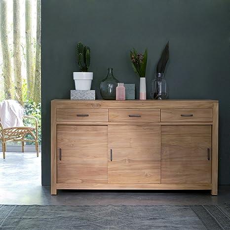 Buffet aus Teak 150 cm Sideboard Lowboard Highboard Massivholz