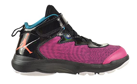 Jordan Super.Fly 3 BP Little Kids Shoes Fusion Pink Electric Orange-Black-Tropical Teal 684937-625