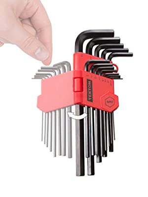 TEKTON Long Arm Hex Key Wrench Set, Inch/Metric, 26-Piece | 25252 (Color: Original Version)