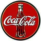 COKE - Round 30's Bottle & Logo Tin Sign 11.75