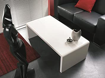 Haku Möbel 86390 Table Basse Blanc 120 x 60 x 40 cm