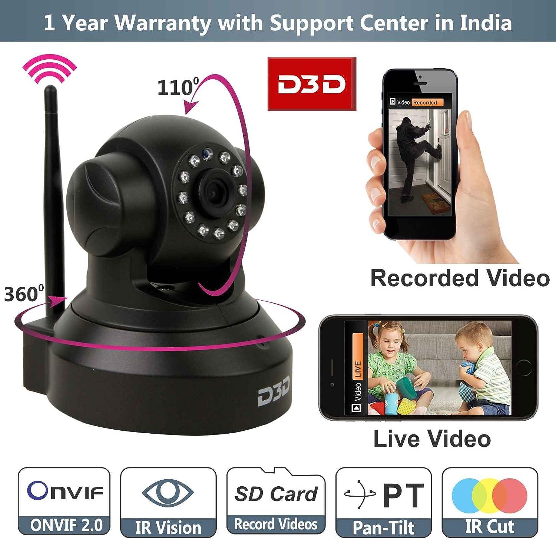 3D Wireless HD IP WIFI CCTV Indoor Security Camera