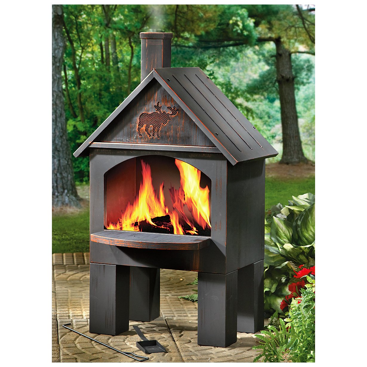 Wood cooking outdoor fireplace bbq grill fire pit deck patio ebay