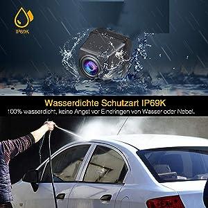 Rear Reversing Backup Camera Rearview License Plate Replacement Camera Night Vision Ip69k Waterproof for Hyundai Elantra/Sonata/Accentt/Tucson/Terracan/Kia Carens/Opirus/Sorento