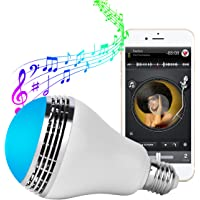 TUPELO Universal Bluetooth Speaker Color Changing LED Bulb (Dimmable Multicolored)