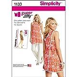 Simplicity 1133 Women's Tunic and Pants Sewing Pattern Set, Sizes 6-18 (Tamaño: A (6-8-10-12-14-16-18))