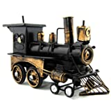 AINIM Retro Steam Locomotive Shape Music Box, Metal Handmade Ornaments, Creative Gifts (Castle in The Sky)