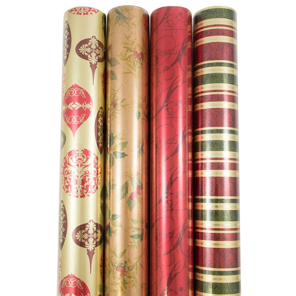 JAM Wrapping Paper, 180 Square Feet - Antique Christmas (Set of 4) 0