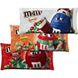 M&M Solid Milk Chocolate Candy - Milk Chocolate Peanut Butter Almond Flavored M&M's Xmas Christmas Candy - 9.9-11.4 Ounce - Pack of 3