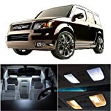CCIYU 9 Pack White LED Bulb LED Interior Lights Accessories Replacement Package Kit For 2003-2011 Honda Element