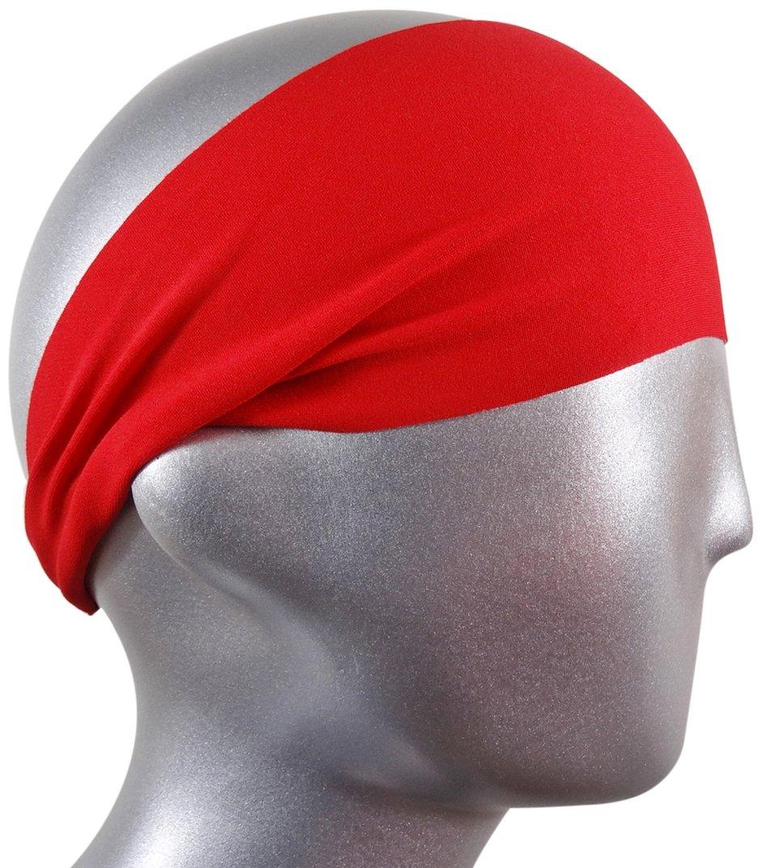 Bondi Band Solid Moisture Wicking Headband 1pcs cotton tie back headbands stretch sports sweatbands hair band moisture wicking workout bandanas running men women bands