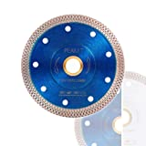 Peakit Tile Cutter Blade 4.5 Inch Porcelain Diamond Blade Ceramic Cutting Disc Wheel for Angle Grinder, Reversible Color (Color: 4.5 inch blue& silver reversible, Tamaño: Medium)