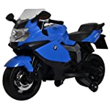 Licensed BMW Motorcycle 12V Kids Battery Powered Ride On Car Toy Blue (Color: Blue, Tamaño: Small)