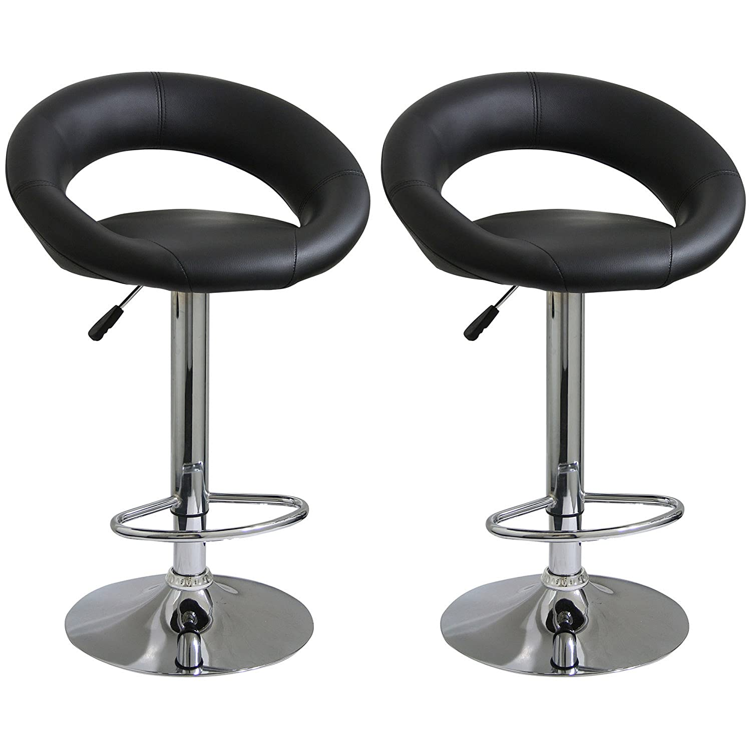 Bar Stool Set 2 Piece Adjustable Height Seat Chair Swivel  : 71IVeu2XIrLSL1500 from www.ebay.com size 1500 x 1500 jpeg 156kB
