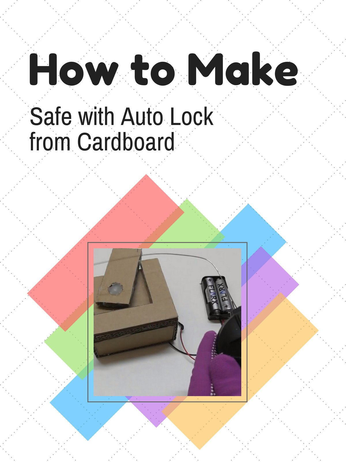 How to Make Safe with Auto Lock from Cardboard