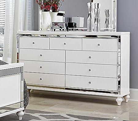 White Bedroom Furniture - Alonza (Dresser)